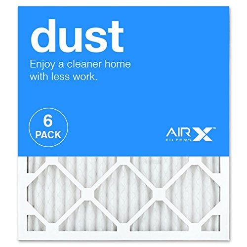 3. AIRx DUST 18x20x1 MERV 8 Pleated Air Filter - Made in the USA - Box of 6