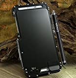 note 4 case wood - Note 4 case,Emilys Samsung Galaxy Note 4 case,Emilys 360 Armor King Cool Luxury Metal Aluminum Case Cover for Samsung Galaxy Note 4(Black)