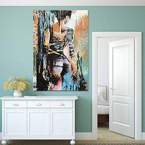 Orlco Art Hand painted Modern Abstract Sexy Girl Oil Painting On Canvas Nude Sex Artist Oil Painting For Wall Decoration