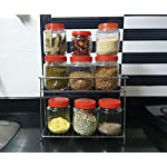 EverEx Stainless Steel Spice 2-Tier Trolley Container Organizer Organiser/Basket for Boxes Utensils Dishes Plates for…