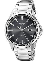 Pulsar Mens PX3073 Solar Dress Analog Display Japanese Quartz Silver Watch