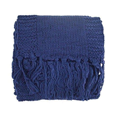 Écharpe Mme Tricot Mode Longs Châle en Abby Hiver En Echarpe De Le Couleur Cheveux Style Col Laine Unie Bleu ZqETHEwx