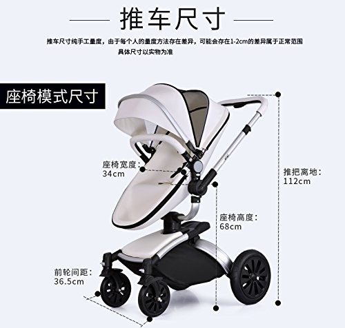 Amazon.com : baby pram 3 in 1 cochecito bebe High Landscape Portable prams and pushchairs luxury baby stroller prams stroller travel : Baby