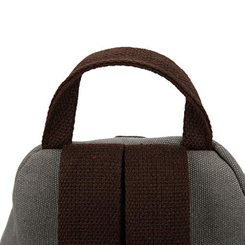 Shoulder Backpack De Solid Daypack Señoras Sencillo Lona Mochila Bolsa Casual Anti Viaje Moda Diario Gray robo Multifunción Bag Vida Bolsos Escolar Ocio 0HIUUxqT