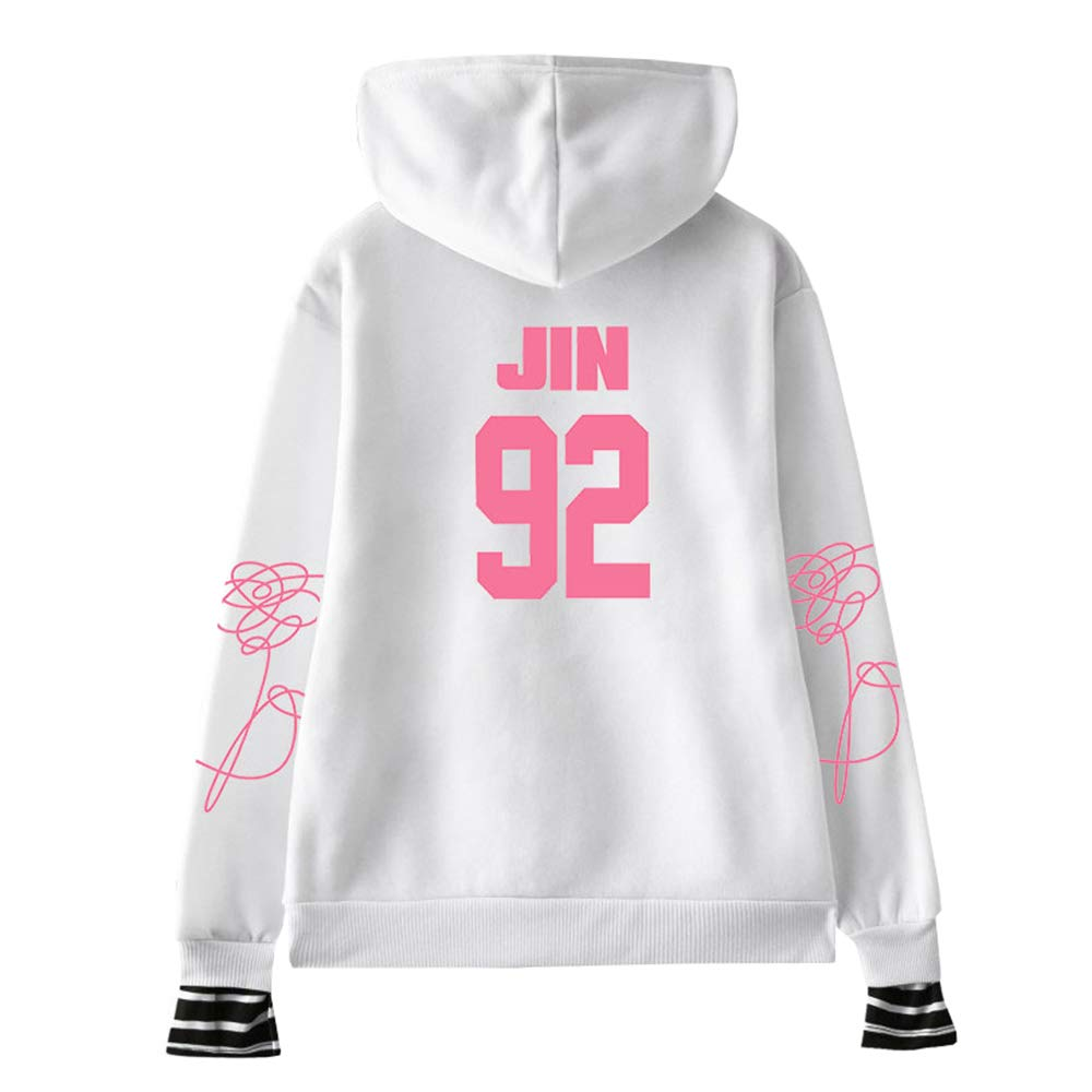 BTS Pullover Comfortable Spring and Autumn New Womens Sports and Leisure Pullover Cute Hooded Sweater Unisex
