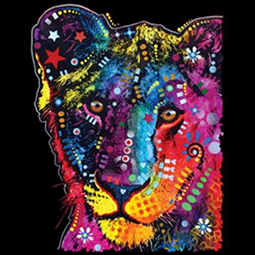 Löwen-Umhängetasche/Tasche-Vintagelook mit Wildkatzen-Neon-Druck: Young Lion cooler Look