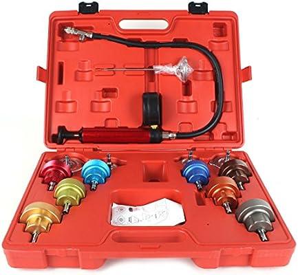 14pcs sistema de refrigeración comprobador de fugas Kit de coche universal Radiador Presión Medidor de Prueba Set Herramientas