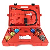 14PCS Cooling System Leak Tester Universal Car Radiator Pressure Kit Test Gauge Set Tools