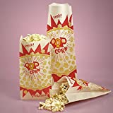 Bakery Movie Popcorn Bags 5-1/4'' X 12'' - Grocery Bags - 1000 each by Paper Mart