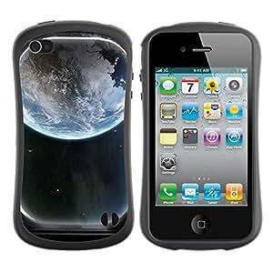 Suave TPU GEL Carcasa Funda Silicona Blando Estuche Caso de protección (para) Apple Iphone 4 / 4S / CECELL Phone case / / Space Ship Window View /