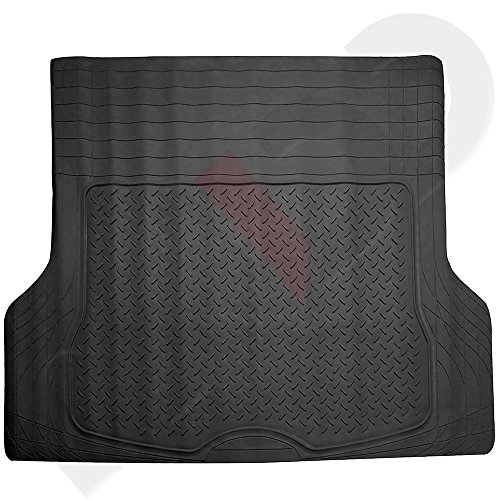CCIYU Rubber Trimmable - Custom Fit - Trunk Liner/Cargo Mat Black For 2013-2015 Jeep Grand Liberty PatriotWrangler Cherokee Renegade Cherokee Compass - Jeep Liberty Cargo Liner