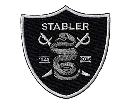 New Oakland Raiders Ken Stabler 'The Snake' Iron on Patch 3 1/2 X 4