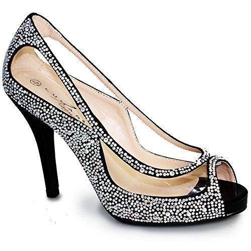 Fantasia Boutique , Escarpins pour femme Noir (Chaussure Seulement)