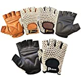 Prime Finger Less Net Cycle Padded Gloves Biker Fitness Gym Body Building Weight Lifting Glove 411