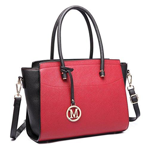S Main Ailée Red Cuir 6627 Multicolore Bandoulière Sacoche Black Femme black Sac 1625 À Miss Simili Petite Lulu white EW0ZqZ