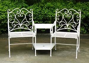 Bentley garden set de sillas de hierro forjado para for Sillas jardin amazon