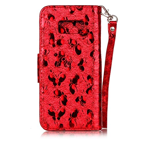 Samsung Galaxy S8 Plus Funda peil con Tapa, Vandot 3in1 PU Cuero Capas Caja Carcasa de Teléfono Concha Shell Bumper Wallet Flip Case Cover con Soporte Función Tarjeta Ranura Billetera Botón Magnético  LSHFD 02