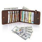 Kattee Men's Crazy Horse Leather Moneybag Credit Cards Wallet Holder