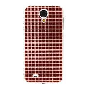 DUR Red Gridding Pattern Plastic Protective Hard Back Case Cover for Samsung Galaxy S4 I9500