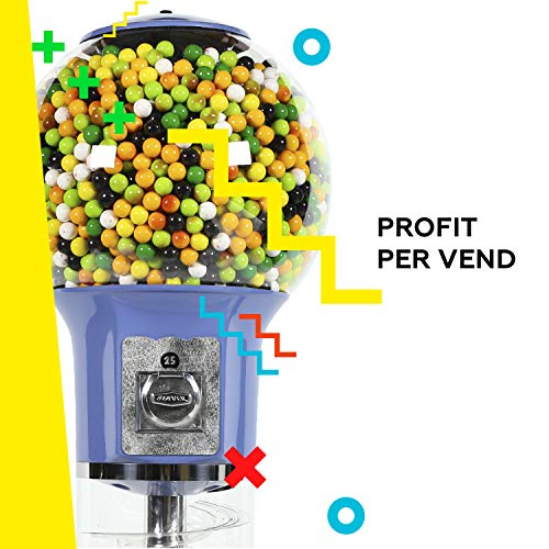Spiral Gumball Vending Machines - Original Wizard 4'10'' - $0.25 (Red) by Global Gumball (Image #4)