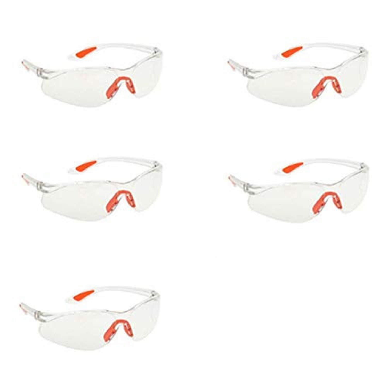 HONGCI Paquete de 5 Gafas de Transparentes Protección Antivaho Seguridad, Gafas de Para Niños, Batallas de Armas Nerf, Construcción, Bricolaje, Laboratorio, Soldadura, Química, Uso Personal