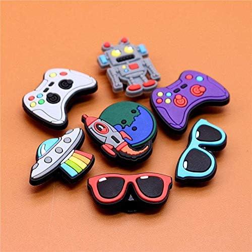Shoes Charms for Crocs Decoration 7 Pcs PVC Video Games Jibbitz for Crocs Shoes Charms for Boys Kids
