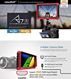 Lilliput A7S 7-inch 1920x1200 IPS Screen Camera Field Monitor 4K HDMI Input output Video For DSLR Mirrorless Camera SONY A7S II A6500 Panasonic GH5 Canon 5D Mark IV DJI Ronin M