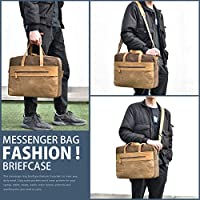 Cowhide Leather Male Fashion Casual School Messenger bag Shoulder bag 9 Tablet Case Men 304c