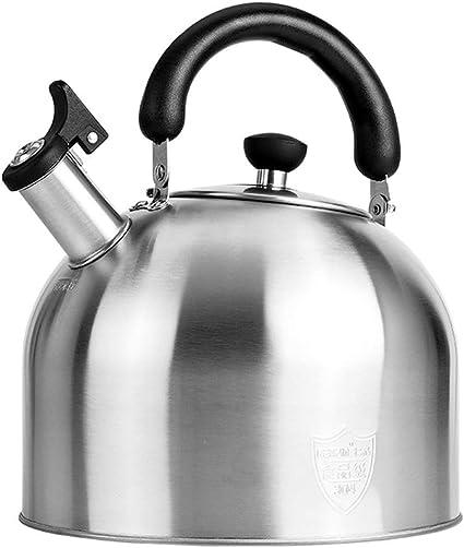 Ancdream Flauta Caldera de Acero Inoxidable, Tetera/hervidor de Agua para inducción Cocina de Gas Camping, 3L