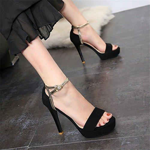 YMFIE Verano Europeo Moda Hueco Sexy Punta Abierta Sandalias de tacón Alto Partido de Las señoras del Banquete de Tacones Altos Zapatos de la Boda A