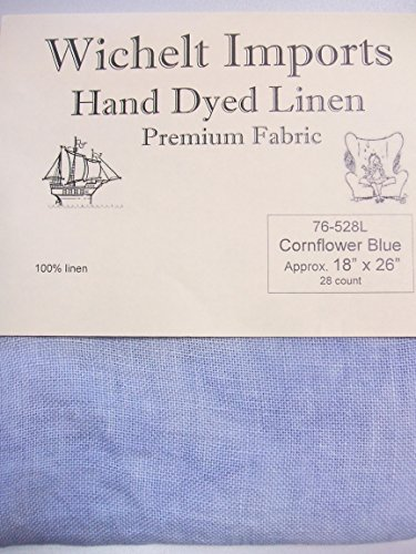 Wichelt Hand Dyed 100% Linen Cornflower Blue 28 Ct 18