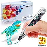 3D Doodler Pen - 3D Printing Pen 4.0 Version - Non-Toxic - Won't clog - One Button Operation Comes w/ 4 Drawing Templates +3 PLA Filament +1 Small Shovel + 1 Transparent Sheet