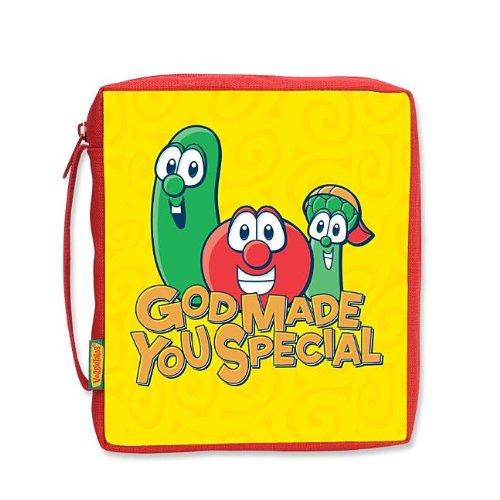 God Made You Special Fabric Medium Bible Cover (VeggieTales) ()