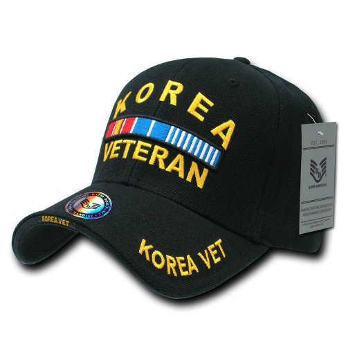 Rapiddominance DeLuxe Military Cap, Korea Vet/Black