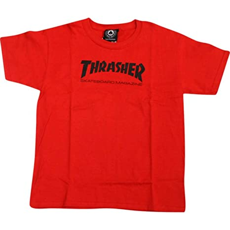 d644c467b22e Image Unavailable. Image not available for. Color  Thrasher Magazine Mag  Logo Red Youth T-Shirt ...