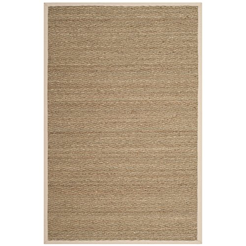 Safavieh Natural Fiber Collection NF115J Herringbone Natural and Ivory Seagrass Area Rug (2