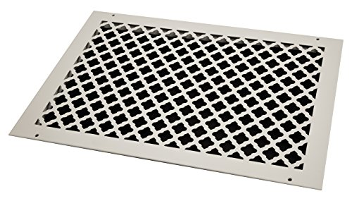 SteelCrest BTU20X14RWHH Bronze Series Designer Wall/Ceiling Vent Cover, with Mounting Screws, White by SteelCrest