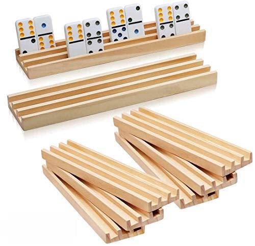 8 soportes de madera para dominos importados