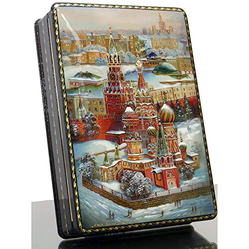 craftsfromrussia Russian Lacquer Miniature - Jewelry Trinket Box - Series #2