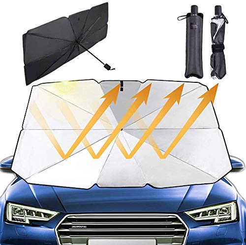 hengshiqi Windshield Sun Shade Skeletor Front Car Shield Window Shade Blocks Sun Auto Visor Cover Protector Fold-Up Truck Sun Glare
