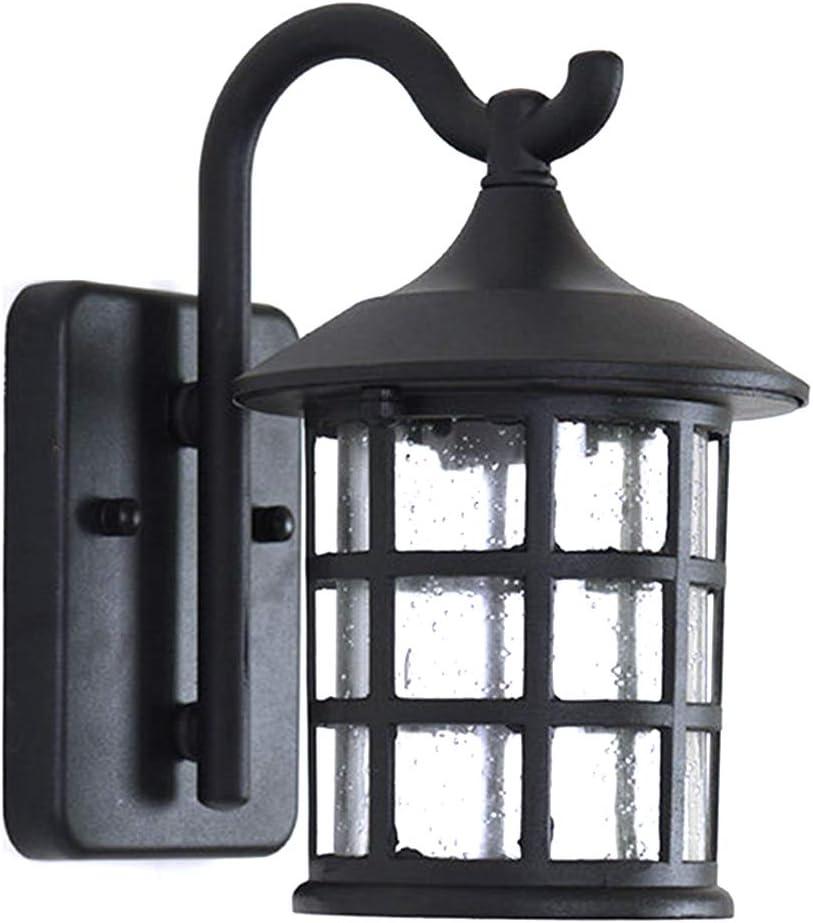 Lámparas Para Exteriores, Lámparas Impermeables Para Porches, Montaje En Pared, Aplique De Pared Exterior Lámpara De Pared Exterior Con Vidrio Texturizado Para Casa, Puerta De Entrada, Garaje,A