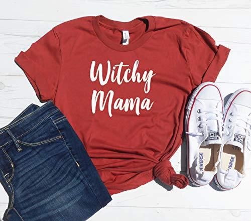 WItchy Mama Shirt, Halloween Mom Shirt, Halloween mama Tee, Funny Mom Halloween Costume, Mom Trick Or Treat, Witch Shirt, Witchy Mama ()
