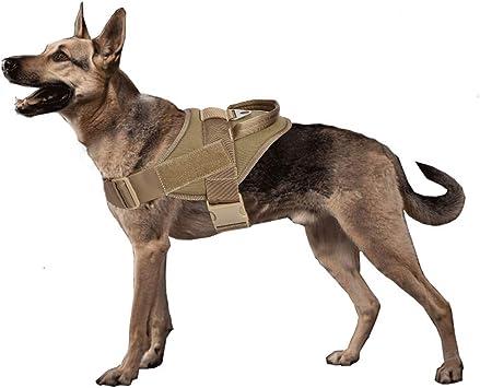 Yisibo - Chaleco táctico con arnés para perros policía o del ejército ...