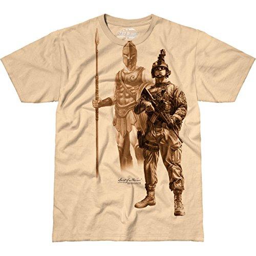 7.62 Design Spirit of a Warrior' Men's Jumbo Print T-Shirt LG (7.62 T-shirt Design Print)