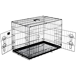 Pet Trex 2302 PT2302 36 Inch Pet Crate Folding Pet Crate Kennel for Dogs, Cats or Rabbits, 36""