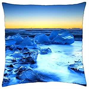 ICY SEA - Throw Pillow Cover Case (18