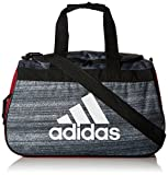 adidas Diablo Small Duffel Bag, One Size, Noise Black/Collegiate Burgundy/Black/White