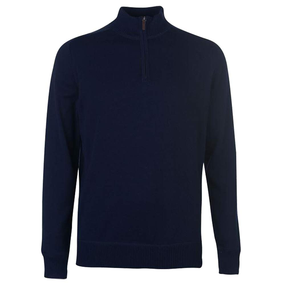Howick/ Mens Funnel Neck Sweater Quarter Zip