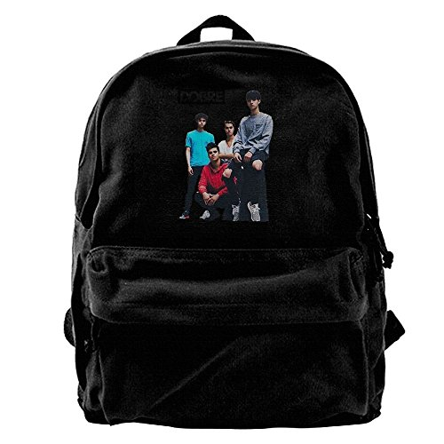 Canvas Backpack Lucas Dobre Logo Personalized Fashion Custom Black One Size from Vito H. Jackson