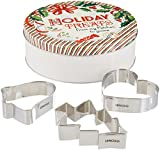 Lenox Home for The Holidays Round Tin with 3 Cookie Cutters, Multicolor